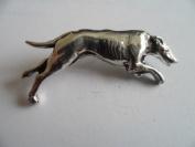 Greyhound, English Pewter Pin Brooch / Badge