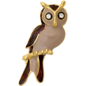 Eagle Owl Bird Brooch
