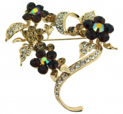 Jodie Rose 'Topaz' Colour & Clear Crystal Flower Brooch