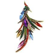 Brooches Store Multicoloured Crystal Peacock Bird Brooch