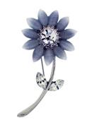 Jodie Rose Clear Crystal Flower Brooch