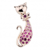 Chaomingzhen Cat Brooch for Women crystal Alloy