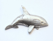 Hoardersworld Orca Killer Whale Pin Badge In Fine English Pewter, Handmade,