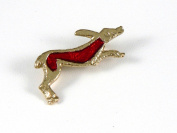 Historic Jewellery Reproduction Gold plated pewter - Roman Hare brooch - Unisex - Length 30mm