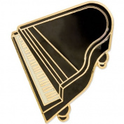 Black Grand Piano Brooch / Ladies Music Jewellery Gift