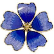 Blue Cosmos Flower Brooch