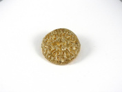 Historic Jewellery Reproduction Gold plated pewter - Filigree Brooch - Unisex