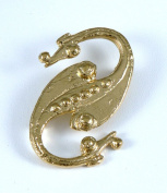 Historic Jewellery Reproduction Gold plated pewter - Dragonesque Brooch - Unisex