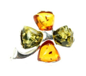 925 Sterling Silver & Baltic Amber Jewellery - Brooch GL819