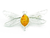 925 Sterling Silver & Baltic Amber Jewellery - Brooch 4104