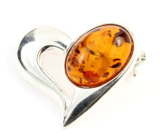925 Sterling Silver & Baltic Amber Jewellery - Brooch GL816