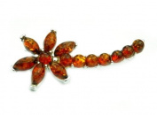 925 Sterling Silver & Baltic Amber Jewellery - Brooch M812