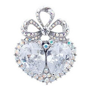Butler & Wilson Heart with Bow Brooch