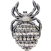 Brooches Store Oversized Clear Crystal Spider Brooch