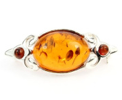 925 Sterling Silver & Baltic Amber Jewellery - Brooch GL815