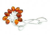 925 Sterling Silver & Baltic Amber Jewellery - Brooch 4031
