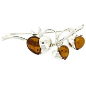 Brooches Store Amber & Sterling Silver Three Apples Brooch