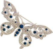 Montana Blue Spot Butterfly Brooch / Insect Jewellery Ladies Gift
