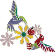 Birds Bug and Flowers Sterling Silver Brooch Hallmarked 925 Jewellery