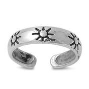 Toe Ring Sterling Silver Sun