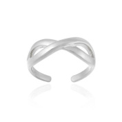 Sterling Silver Infinity Design Toe Ring