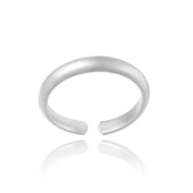 Sterling Silver Beautiful Polished Toe Ring