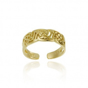 18K Gold Over Sterling Silver Irish Celtic Knot Toe Ring
