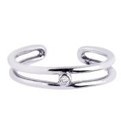 Sterling Silver Toe-Ring - JewelryWeb