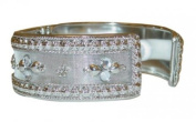 Indian adjustable Fashion Bracelet featuring sparkling Faux-Jewels - Silver colour