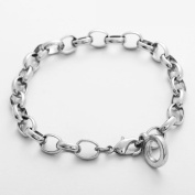 Rhodium plated Charm bracelet for Thomas Sabo style clip on charms size 20cm