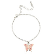 Childrens pretty pink butterfly bracelet, adjustable. Matching necklace and ring also available - includes pretty gift bag