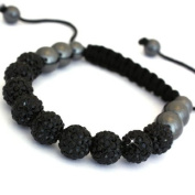 Shamballa Bracelet Full Back (No Strings) Disco Ball Friendship Bead Unisex Bracelets. Crystal Beads