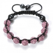 Shamballa Bracelet Pink Disco Ball Friendship Bead Unisex Bracelets. Crystal Beads