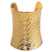Yazilind Regular Pattern Lengthen Widen Cool Adjustable Cuff Bangle Bracelet Wide:9.7cm Adjustable Punk Style