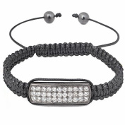 Shamballa Clear crystal bar friendship bracelet branded gift pouch included