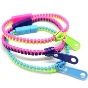 CKB Ltd 10x Wholesale ZIP Zipper Bracelet Mixed Colour Bangle Wristband Cool Trend