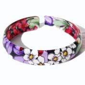 Purple Floral Acrylic Bangle 53007, beautiful gift packaging