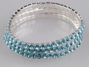 Blingalove 3 Pieces Set Sparkling Bracelet Blue Colour