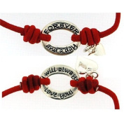 Bandz 'Forever & A Day I Will Always Love You' Red Stretch Sentiment Bracelet