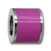 Amello Megabeads Stainless Steel Bead pink enemaled, for bracelets and necklace made of Stainless Steel AMB028V