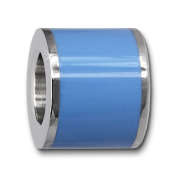 Amello Megabeads Stainless Steel Bead blue enemaled, for bracelets and necklace made of Stainless Steel AMB028H