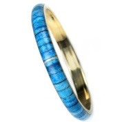 Bangle set in gold, white, turquoise, teal, 7 pieces