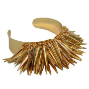 Spike Cluster Bangle in Gold Tone