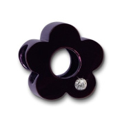 Amello Megabeads Stainless Steel Bead flower purple with. elements for bracelets and necklace made of Stainless Steel AMZ059V
