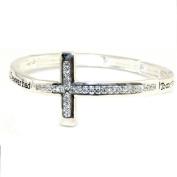 Sideways Cross Adj Bangle Bracelet Best Friend I Ever Had Friends Gift