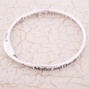 Silver Plated Bangle We've been Mother and Daughter right from the start...and the Friendship we share is a gift from the Heart