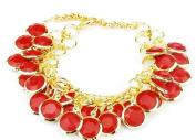 Blingalove Red Drops link Bracelet