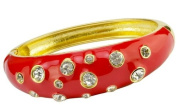Bligalove Red and Diamante Gold Bangle