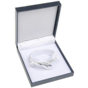 Equilbrium Silver Plated Double Bangle With Heart