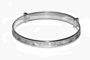 Sterling Silver Expanding Baby Bangle 40mm diameter